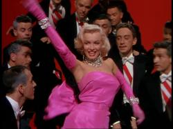 Marilyn Monroe in Gentlemen Prefer Blondes.
