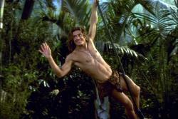 Brendan Fraser in George of the Jungle.