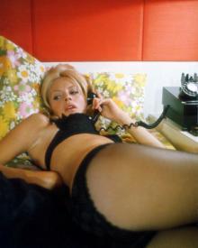 Britt Ekland doing an X-rated scene for 1971.