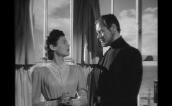 Gene Tierney and Rex Harrison in The Ghost and Mrs. Muir.
