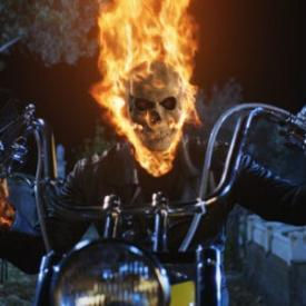 Nicolas Cage in Ghost  Rider.