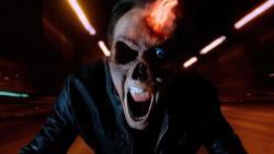 Nicolas Cage in Ghost Rider: Spirit of Vengeance.