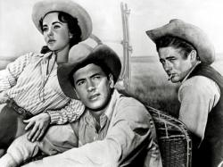 Elizabeth Taylor, Rock Hudson and James Dean in Giant.