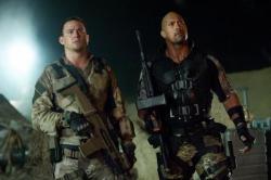 Channing Tatum and Dwayne Johnson in G.I. Joe: Retaliation.