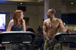 Rachel Nichols and Marlon Wayans in G.I. Joe: The Rise of Cobra.