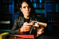 Noomi Rapace is Lisbeth Salander in The Girl Who Played with Fire.