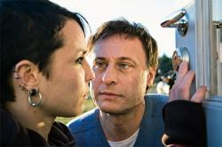 Noomii Rapace and Michael Nyqvist in The Girl with the Dragon Tattooo.