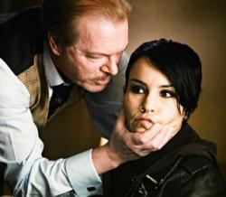 Peter Andersson and Noomi Rapace in The Girl with the Dragon Tattoo.
