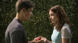 Brenton Thwaites and Odeya Rush in The Giver.