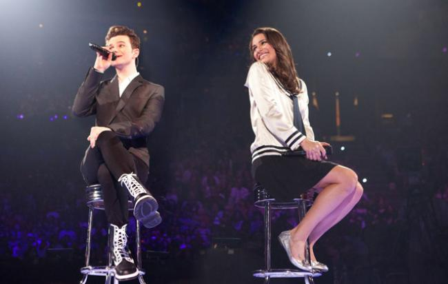 Chris Colfer and Lea Michele in Glee: The 3D Concert Movie