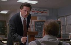 Alec Baldwin telling Jack Lemmon the ABCs of selling in Glengarry Glen Ross