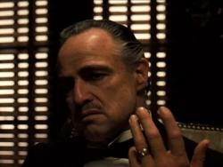 Marlon Brando in The Godfather.
