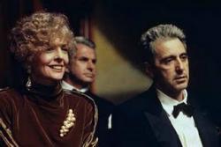 Diane Keaton, George Hamilton(?), and Al Pacino.