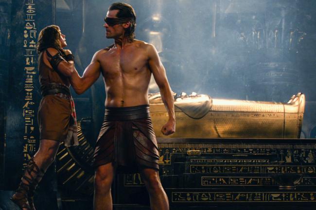 Brenton Thwaites and Nikolaj Coster-Waldau in The Gods of Egypt