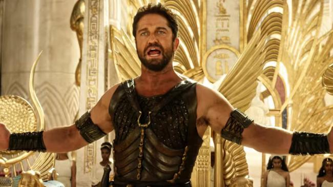 Gerard Butler as Set in The Gods of Egypt.