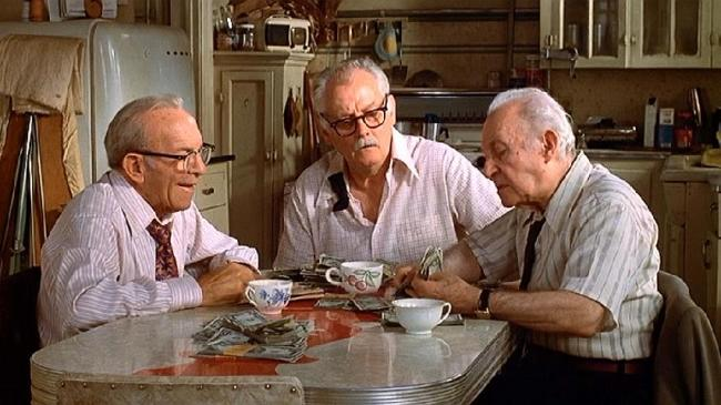 George Burns, Art Carney, and Lee Strasberg in Going in Style.