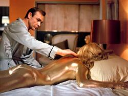 Sean Connery and Shirley Eaton in Goldfinger.