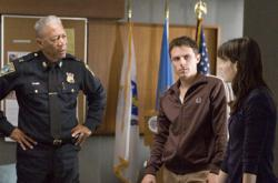 Morgan Freeman, Casey Affleck and Michelle Monaghan in Gone Baby Gone.