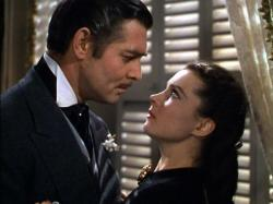 Clark Gable and Vivian Leigh in Gone with the Wind.