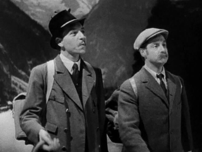 Paul Henreid and Robert Donat in Goodbye , Mr. Chips
