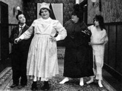 Buster Keaton and Fatty Arbuckle in Goodnight, Nurse!