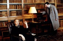 Kristen Scott Thomas and Stephen Fry in Gosford Park.