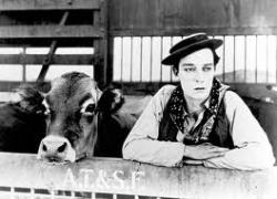 Buster Keaton and Brown Eyes.