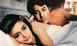 Anne Bancroft and Dustin Hoffman in The Graduate.