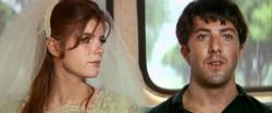 Katharine Ross and Dustin Hoffman in The Graduate