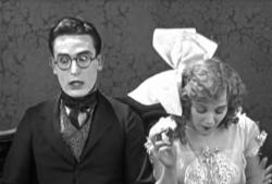 Harold Lloyd and Mildred Davis in Grandma's Boy.