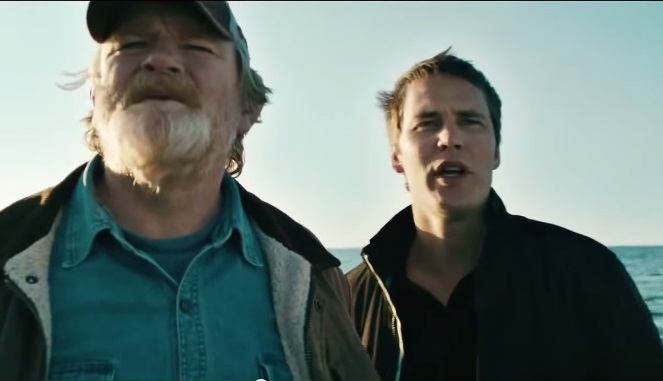 Brendan Gleeson and Taylor Kitsch in The Grand Seduction