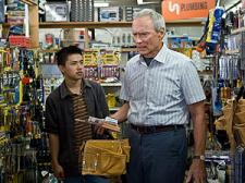 Walt shows Thao what tools he needs.  Too bad Eastwood did not show Vang what acting he needed.
