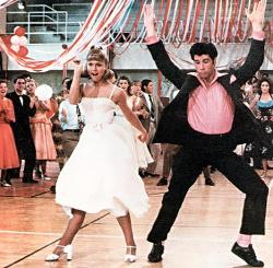 Olivia Newton John and John Travolta in Grease.