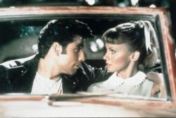John Travolta and Olivia Newton John in Grease.