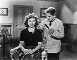 Paulete Goddard and Charles Chaplin in The Great Dictator