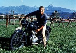 Steve McQueen in The Great Escape.