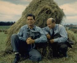 James Garner and Donald Pleasence in The Great Escape.