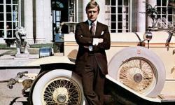 Robert Redford as Jay Gatsby.