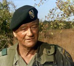 John Wayne in The Green Berets.