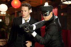 Seth Rogen and Jay Chou in The Green Hornet.