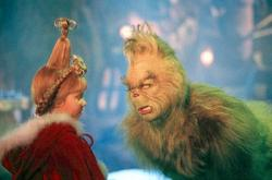 Taylor Momsen and Jim Carrey in How the Grinch Stole Christmas.