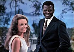 Katharine Houghton and Sidney Poitier in Guess Who's Coming to Dinner.