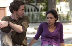 Robert Downey Jr. and Rosario Dawson in A Guide to Recognizing Your Saints.