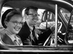 Peggy Cummins and John Dall in Gun Crazy.