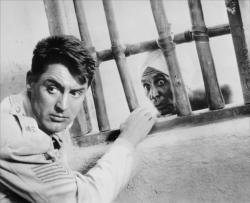 Cary Grant and Sam Jaffe in Gunga Din.