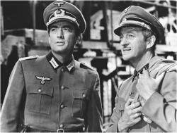 Gregory Peck and David Niven in The Guns of Navarone.