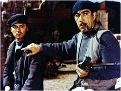 James Darren and Anthony Quinn in The Guns of Navarone.