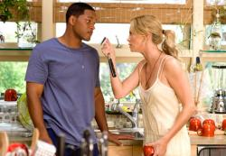 Will Smith and Charlize Theron in Hancock.