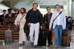 Zach Galifiankis, Bradley Cooper, Justin Bartha and Ed Helms return in The Hangover Part II