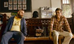 Zach Galifianakis, the monkey and Ed Helms in The Hangover Part II
